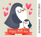 happy mothers day with chicken. ...   Shutterstock .eps vector #273111863