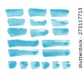 collection of watercolor... | Shutterstock . vector #273117713