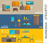 home interior design for... | Shutterstock .eps vector #273119717