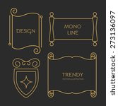 vector scroll set in trendy... | Shutterstock .eps vector #273136097