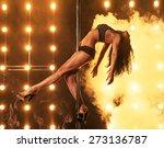 sexy pole dancer | Shutterstock . vector #273136787