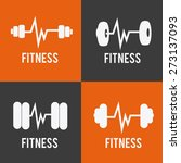 fitness design over colorful... | Shutterstock .eps vector #273137093