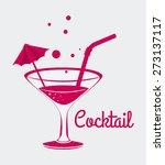 cocktail design over white... | Shutterstock .eps vector #273137117