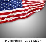 american flag on grey background | Shutterstock . vector #273142187
