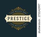 luxury logo template flourishes ... | Shutterstock .eps vector #273142997
