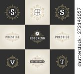 set luxury logos template... | Shutterstock .eps vector #273143057