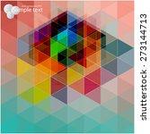 vector geometric shapes.... | Shutterstock .eps vector #273144713