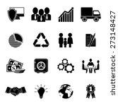 set of 16 business icons. | Shutterstock .eps vector #273148427