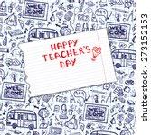 teachers day.school doodles... | Shutterstock .eps vector #273152153