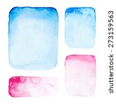 hand drawn watercolor rectangle ... | Shutterstock .eps vector #273159563
