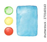 hand drawn watercolor rectangle ... | Shutterstock .eps vector #273160163