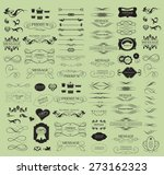 set of calligraphic elements... | Shutterstock .eps vector #273162323