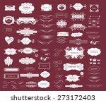 set of calligraphic elements... | Shutterstock .eps vector #273172403