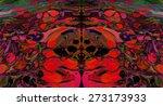 marble artwork ebru pattern ...   Shutterstock .eps vector #273173933