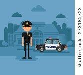 concept policeman at work.... | Shutterstock .eps vector #273185723