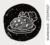 doodle pasta noodle | Shutterstock .eps vector #273194327