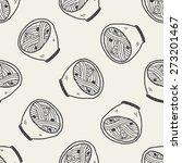 doodle noodle seamless pattern...   Shutterstock .eps vector #273201467