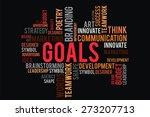 goals word on cloud concept... | Shutterstock . vector #273207713