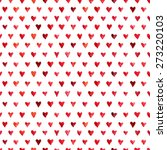 seamless pattern of hearts... | Shutterstock . vector #273220103