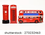postbox and red telephone box... | Shutterstock . vector #273232463