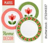 set of three matching... | Shutterstock .eps vector #273244337