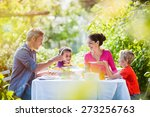 summertime  nice family  daddy  ... | Shutterstock . vector #273256763