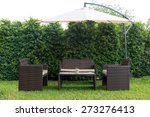 Set Of Rattan Garden Furniture...