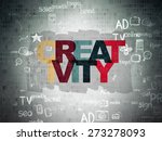 advertising concept  painted... | Shutterstock . vector #273278093