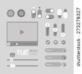 flat web ui elements design...