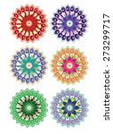 flower pattern set | Shutterstock . vector #273299717