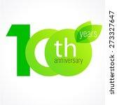 100 years old celebrating green ... | Shutterstock .eps vector #273327647