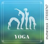 vector yoga illustration. yoga... | Shutterstock .eps vector #273333767