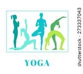 vector yoga illustration. yoga... | Shutterstock .eps vector #273337043