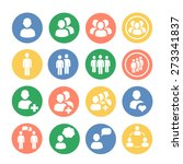 people and social colored  icon ... | Shutterstock .eps vector #273341837