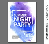 summer night party vector flyer ...