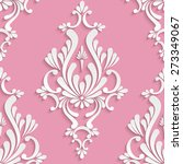vector damask seamless... | Shutterstock .eps vector #273349067