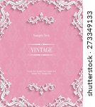 vector pink vintage background... | Shutterstock .eps vector #273349133