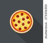 italian pizza flat style... | Shutterstock .eps vector #273356303