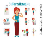 hygiene infographic elements.... | Shutterstock .eps vector #273365963