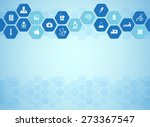 medical background and icons to ... | Shutterstock .eps vector #273367547
