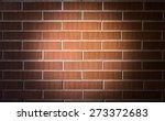 brick texture with center spot... | Shutterstock . vector #273372683