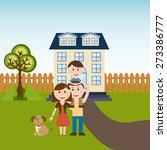 happy family design  vector... | Shutterstock .eps vector #273386777