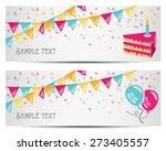 party banners vector | Shutterstock .eps vector #273405557