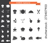 16 icon set. cooking  food and... | Shutterstock .eps vector #273407903