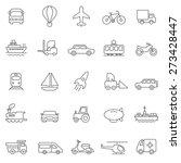 transportation line icons set... | Shutterstock .eps vector #273428447