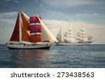 sailboats. collection best... | Shutterstock . vector #273438563
