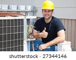air conditioning repairman... | Shutterstock . vector #27344146