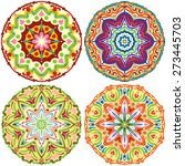 set of four round ethnic... | Shutterstock .eps vector #273445703
