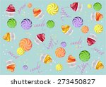 lollipops  candy  cake and... | Shutterstock .eps vector #273450827