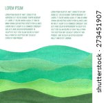 Watercolor Green Hills. Vector...